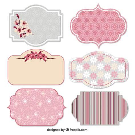 establecer etiquetas vintage con los corazones vector de etiquetas da mola em tons de rosa baixar vetores gr 225 tis