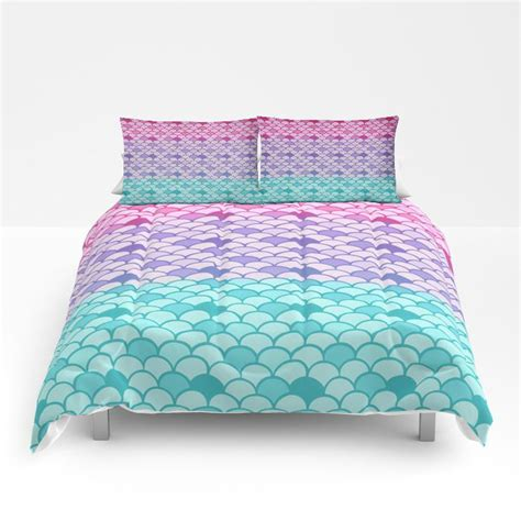 mermaid bedding mermaid scales comforter or duvet cover set twin full