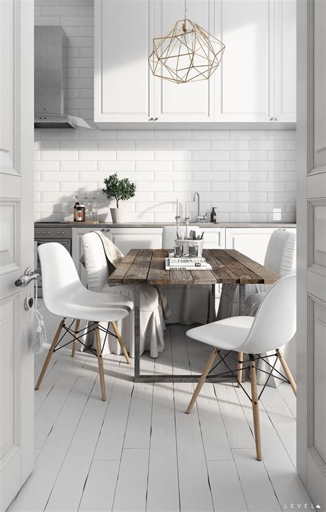 scandinavian kitchen table what s not to about this dining room kitchen combo