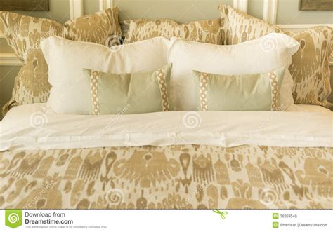 comfortable bedding cozy bedding on bed royalty free stock images image