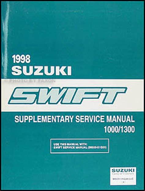 car repair manual download 1998 suzuki swift windshield wipe control 1998 suzuki swift 1000 1300 repair shop manual original supplement