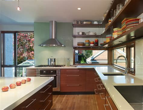 2014 kitchen trends open shelving glass front cabinets kitchens with open shelves