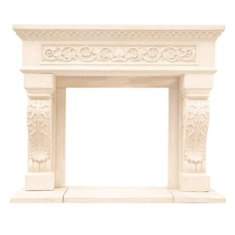 fireplace mantel kits home depot hearth products 53 in x 40 25 in mantle kit for