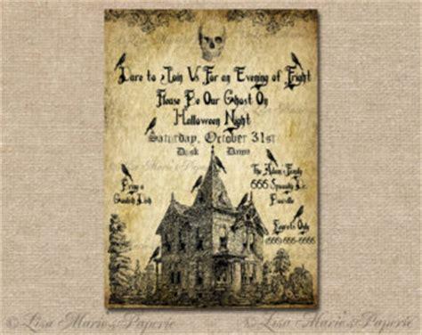 free printable vintage halloween invitations popular items for vintage invitation on etsy
