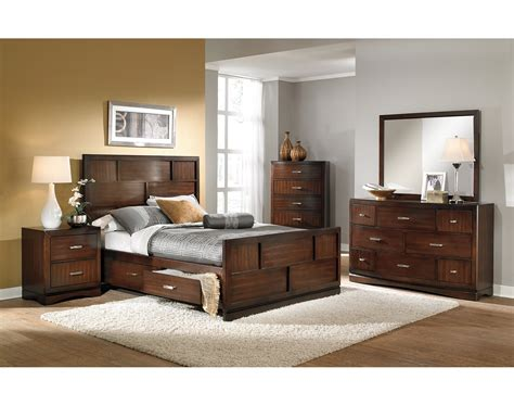 Best Place For Bedroom Furniture The Toronto Collection Pecan American Signature Furniture