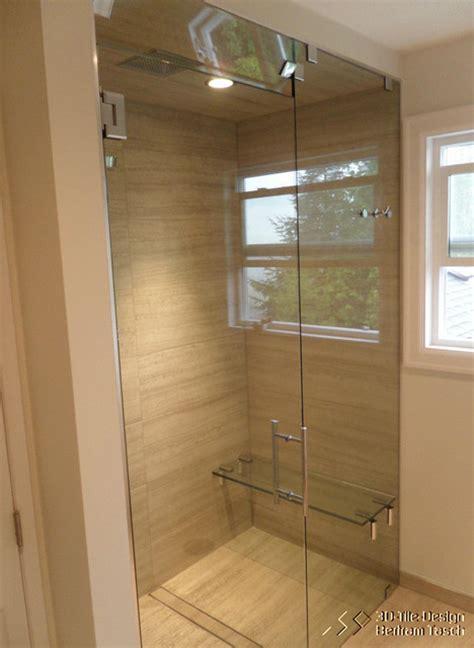 barrier free curbless shower coquittlam modern