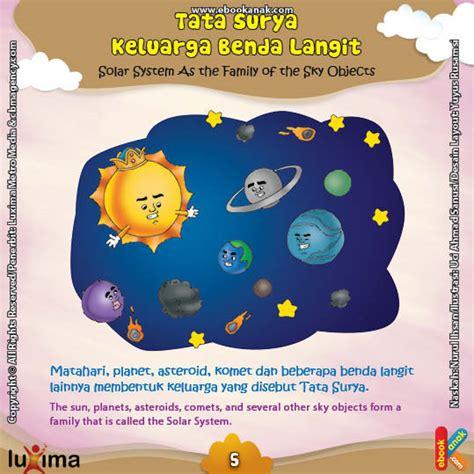 mengenal alam tata surya benda langit sc keluarga benda di langit disebut tata surya ebook anak