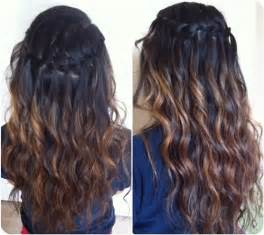 Black ombre hairstyle back to school with brown ombre hair extensions