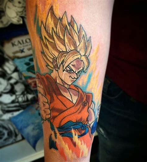 goku tattoo designs saiyan goku anime by neil tattoos
