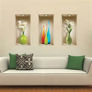 Home Decor 3d Stickers Set 3 Wall Sticker 3d Decals Picture Removable Home Decor Vinyl Tile Mural Ebay