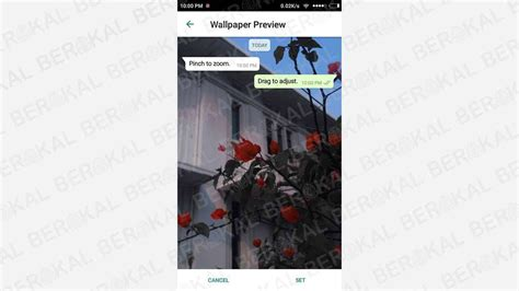 mengganti background chat whatsapp  aplikasi