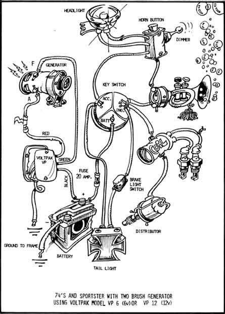 image result  simple harley chopper generator  wiring diagram  wl pinterest