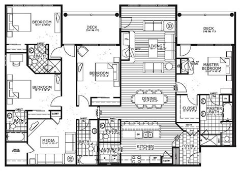 4 Bedroom Condo | 25 best ideas about condo floor plans on pinterest sims