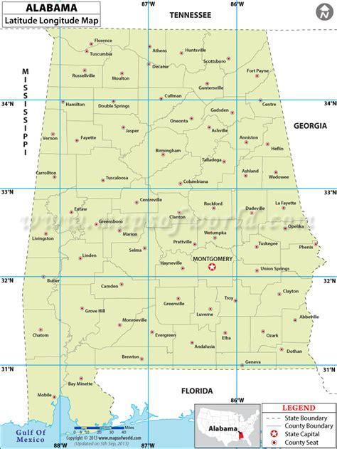 louisiana map coordinates alabama latitude and longitude map