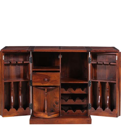 Solid Wood Bar Cabinet Montevideo Solid Wood Bar Cabinet In Honey Oak Finish By Woodsworth By Woodsworth Bar