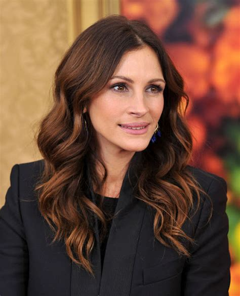 julia roberts red hair balayage highlights for brunette blonde caramel and red hair