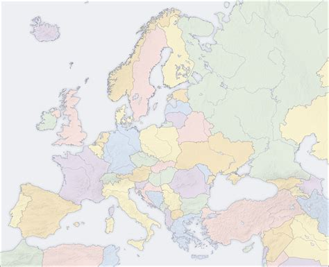 map without country names europe map of europe political map without country names