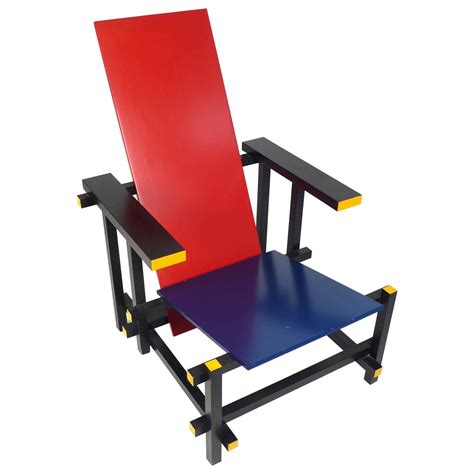 rietveld armchair vintage gerrit rietveld chair produced under license by cassina for sale at 1stdibs