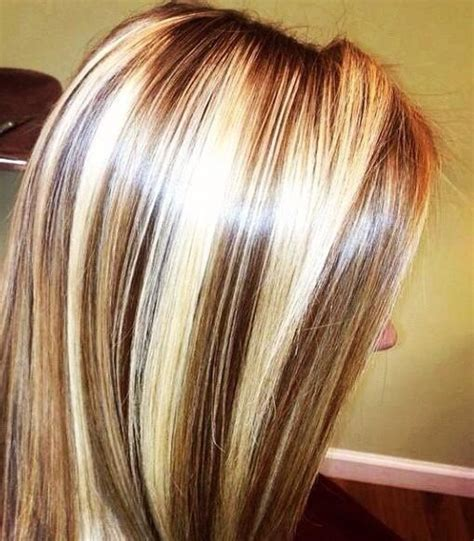 hairstyles with thick highlights chunky blonde highlights picmia