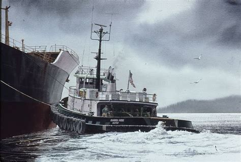 tugboat painting quot sandra foss quot watercolor in tugboat paintings