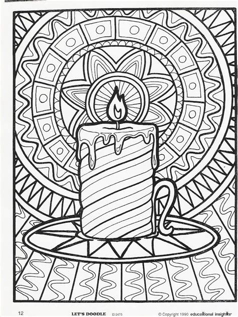 Printable Free Coloring Pages For Christmas Candles Tree With Candles Coloring Page