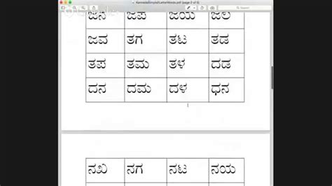 kannada basic two letter words and puzzle part 1