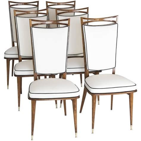 Mid Century Dining Room Furniture Set Of Six Mid Century Dining Chairs For Sale At 1stdibs