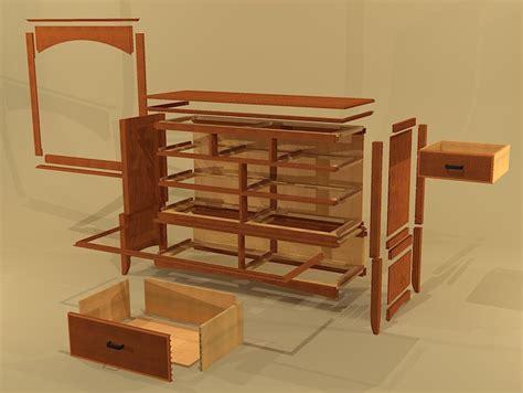 Modern Dresser Plans by Creekside Woodshop Sketchup Drawings