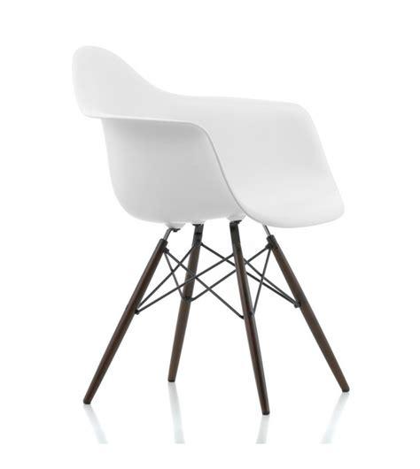 plastic armchair daw plastic armchair walnut base