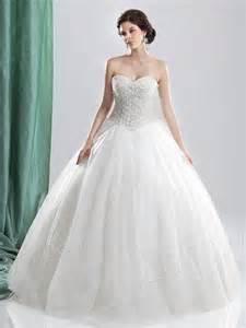 ウェディングドレス プリンセス ハートネック ビーズパールいっぱい チュール フロアレングス 二次会ドレス