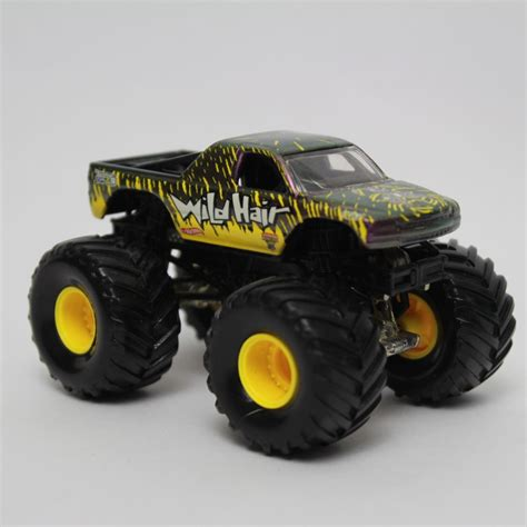 monster jam monster trucks toys wheels monster jam wild hair 3 1 2 monster truck toy