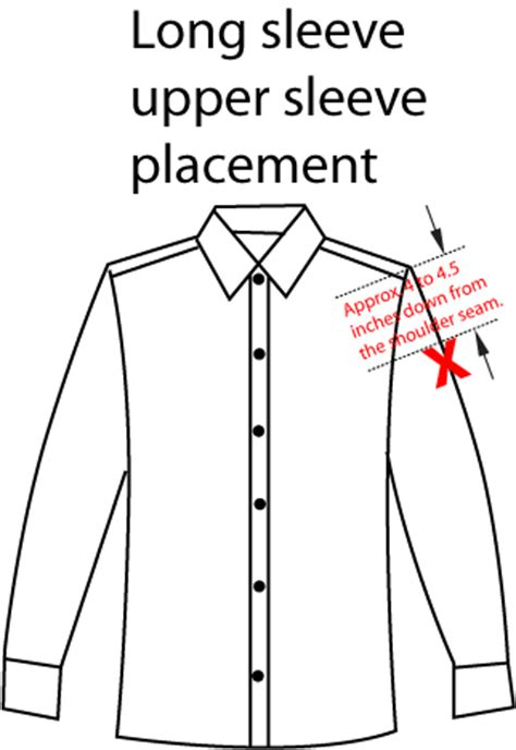 embroidery design placement garment locations