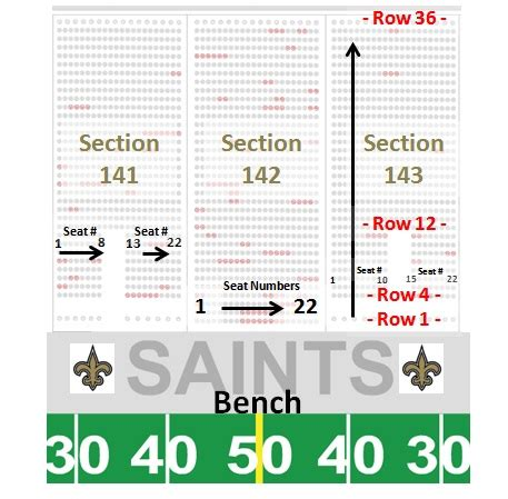 mercedes dome new orleans seating chart mercedes superdome seating chart row seat numbers