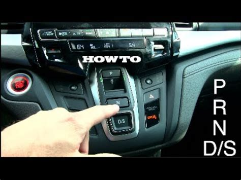 how to new 2018 honda odyssey | gear shifter buttons