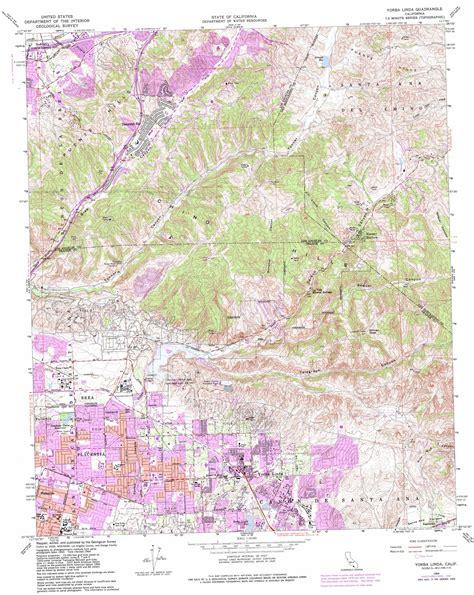 yorba linda topographic map ca usgs topo quad 33117h7
