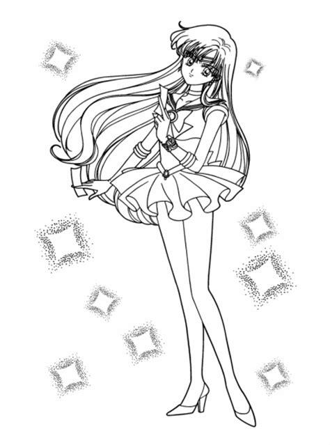 Coloriage Sailor Mars à imprimer et colorier