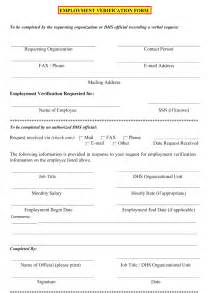 Employment Verification Template by 5 Employment Verification Form Templates To Hire Best Employee