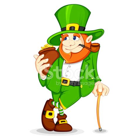 leprechaun with gold coin pot stock photos freeimages.com