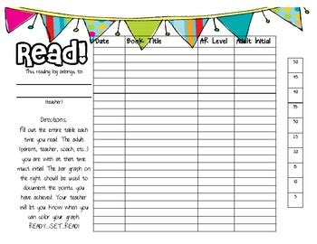 printable ar reading log ar home reading log by live love learn teachers pay teachers