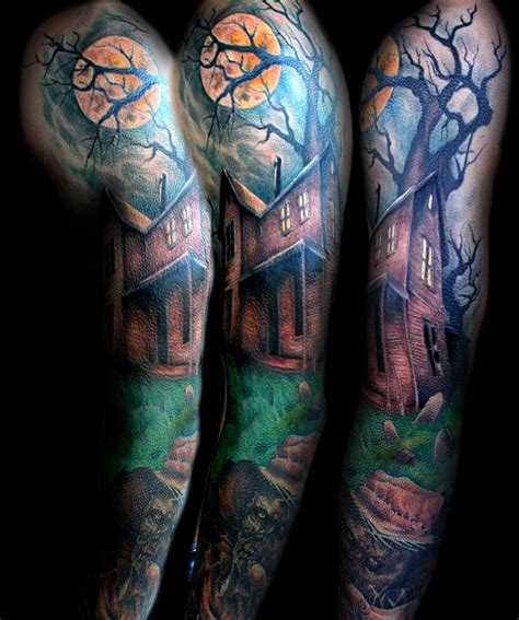 halloween tattoo sleeve free pictures