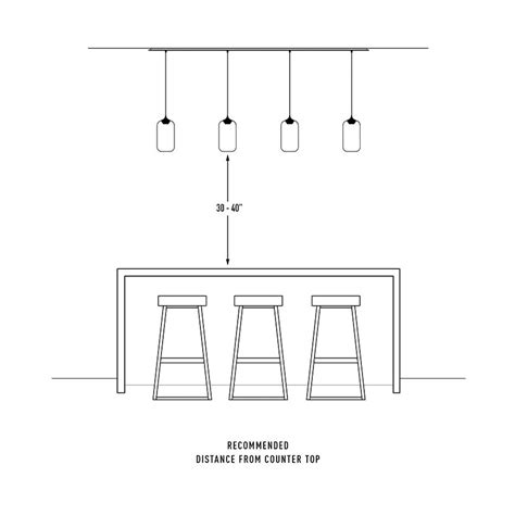 Standard Height For Pendant Lights Standard Kitchen Island Height Inspirations Also Breakfast Bar Within Kitchen Island Height