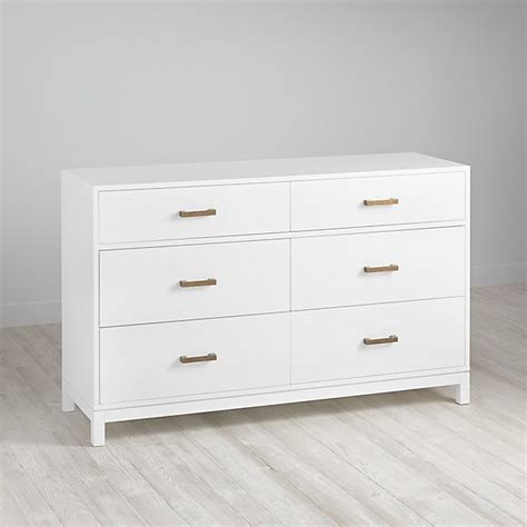 Six Drawer Dresser White by Cargo 6 Drawer Dresser White The Land Of Nod