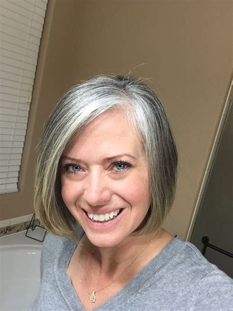 how to grow in gray hair with highlights best 25 going gray gracefully ideas on pinterest