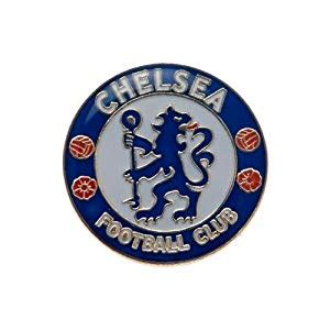 official chelsea football club 1780549466 amazon com chelsea fc official badge metal pin blue club crest soccer equipment sports