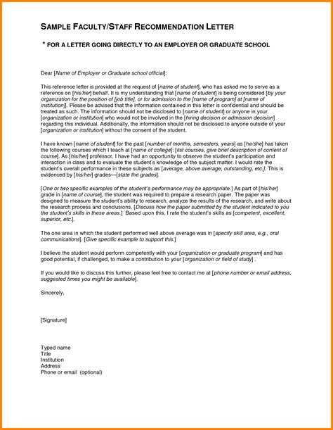 Recommendation Letter For Unknown Student 10 Recommendation Letter For Student Ledger Paper