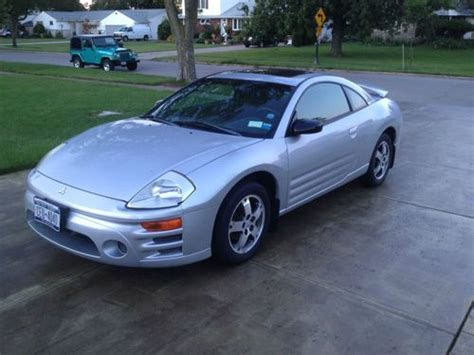 mitsubishi 2 door car sell used silver mitsubishi eclipse 2 door sports car