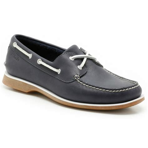 deck shoes clarks mens quay port navy lace up deck shoe at marshall shoes