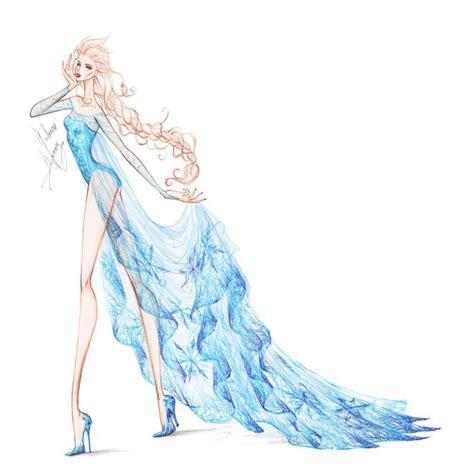 fashion illustration elsa collection chiffon elsa 2 by frozen winter prince on