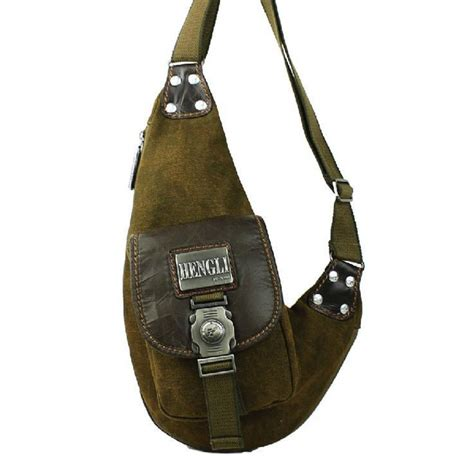 Sling Bag Fashion Murah 2in1 hengli canvas chest pack outdoor small messenger bags sling bag for inclined single