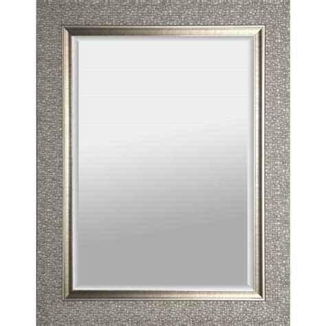 Diy Bathroom Mirror Frame Ideas by Hobbitholeco 27 In X 35 In Silver Square Framed Wall